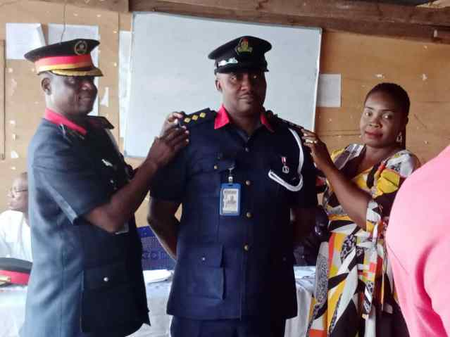 NSCDC ANAMBRA STATE COMMAND DECORATES  NEWLY PROMOTED SENIOR OFFICERS