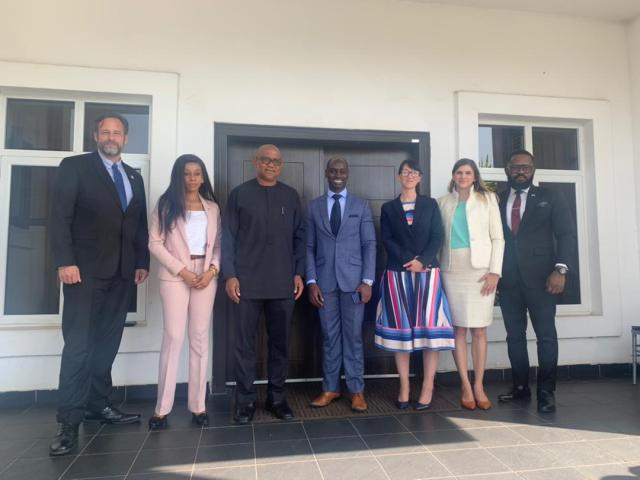 Obi receives 6 High-ranking  members of the USA Embassy