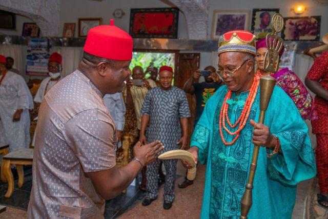 PDP's Valentine Ozigbo Attends Neni New Yam Festival