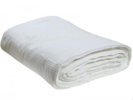 Ткань вафельное полотно техническое отбеленное 80 см 120 гр