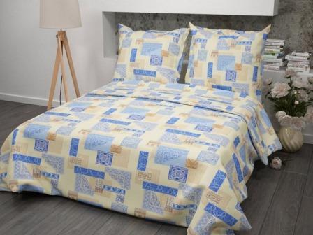 Ткань бязь для постельного белья 356-2 Арабеска бежевый