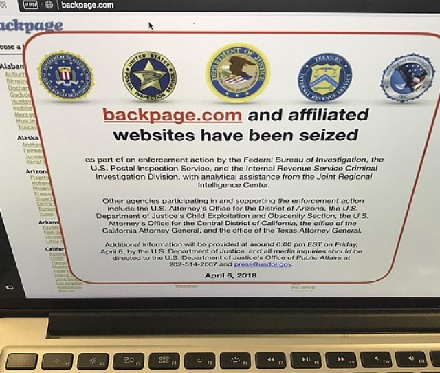Photo Caption A Screenshot Of Backpage Com Says Federal Law Enforcement Authorities Seized