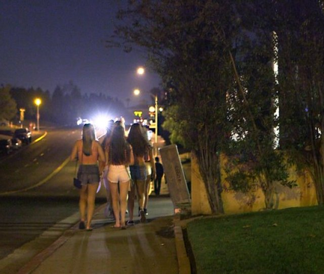 Photo Caption Young Women Head To Fraternity Circle Close To The Sdsu Campus