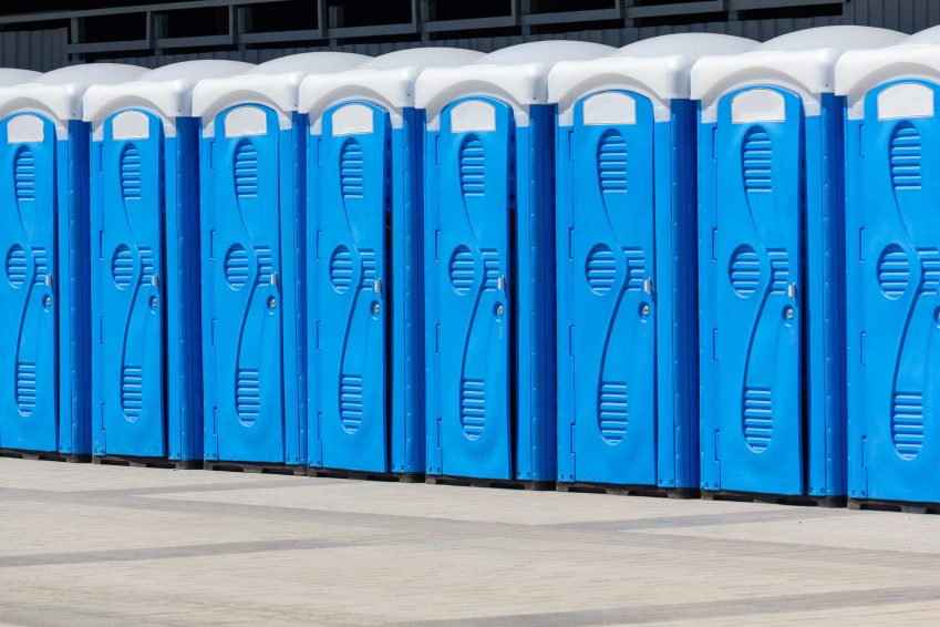 "A row of porta-potties sets the scene for Kimberly Parish Davis' short story, ""A Simple Twist of Fate"""