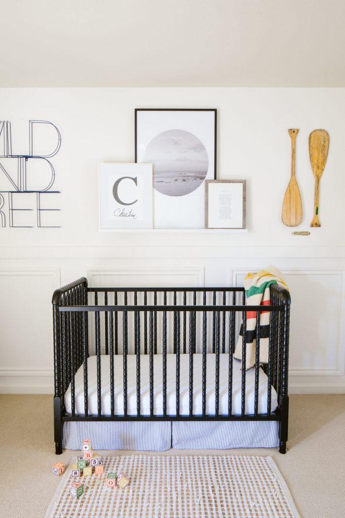 Black crib neutral nursery