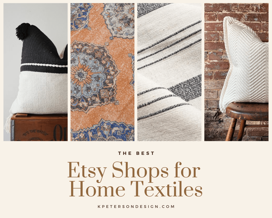 Etsy shops for home decor and textiles