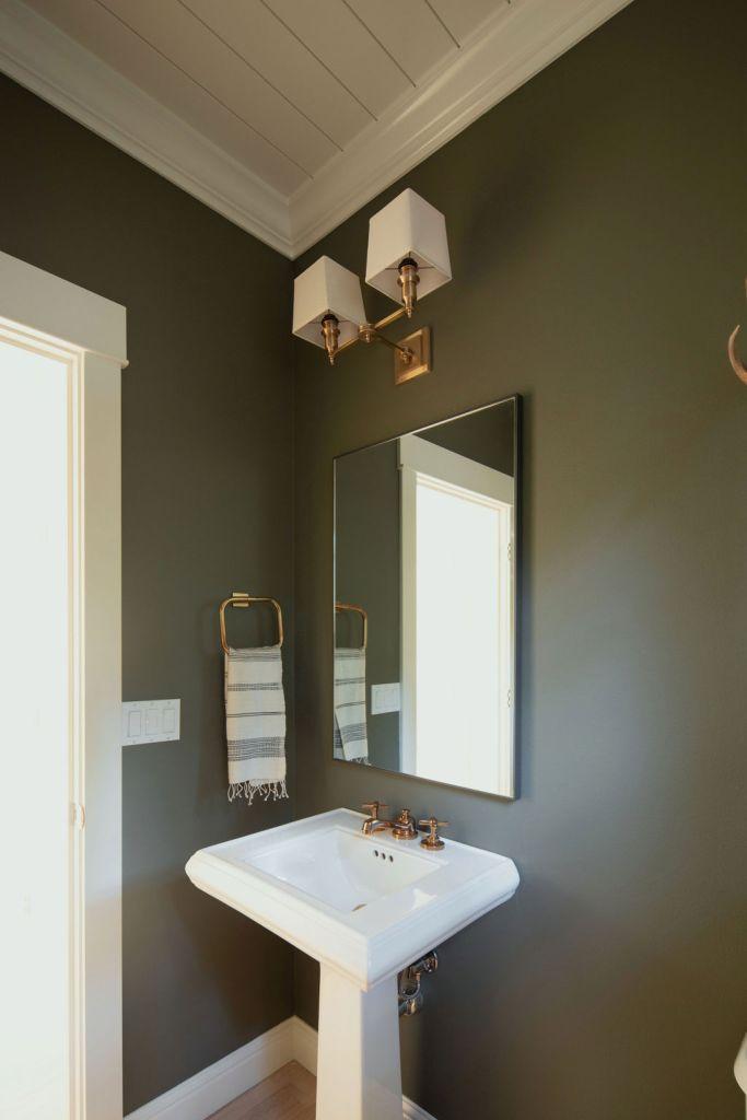 Powder bath sink and vanity