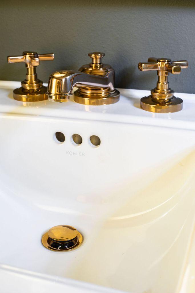 Restoration Hardware Faucet in powder bath