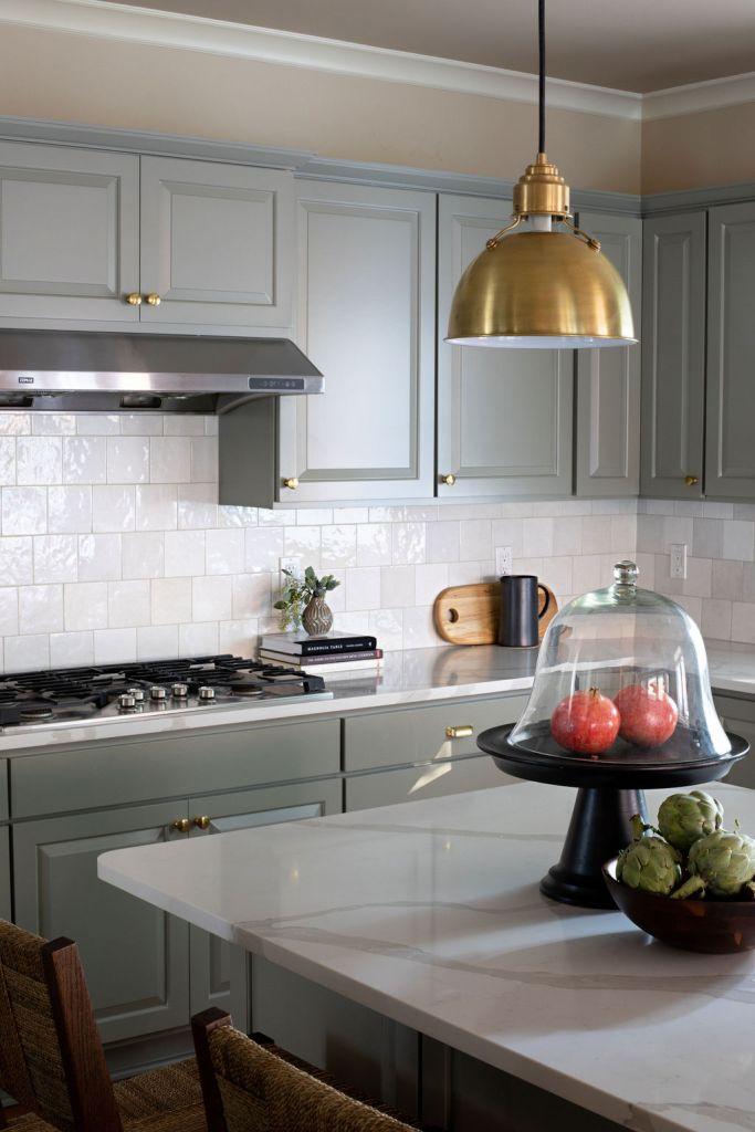 sage green kitchen by bellevue interior designer K. Peterson Design