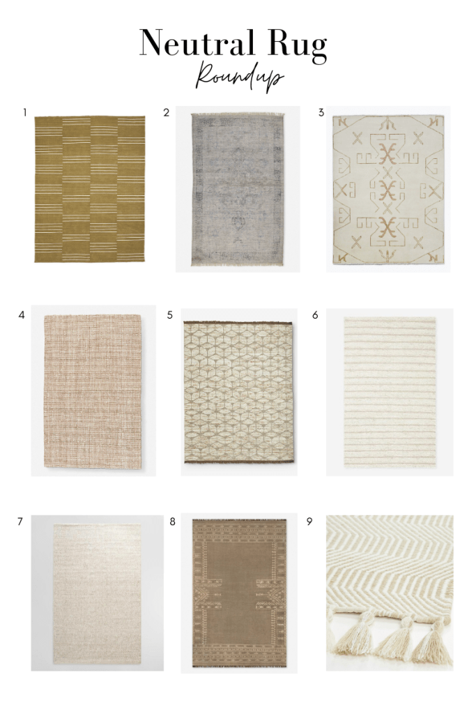 A shopping roundup of neutral rugs we love for every room