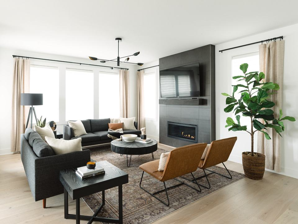 nw modern great room