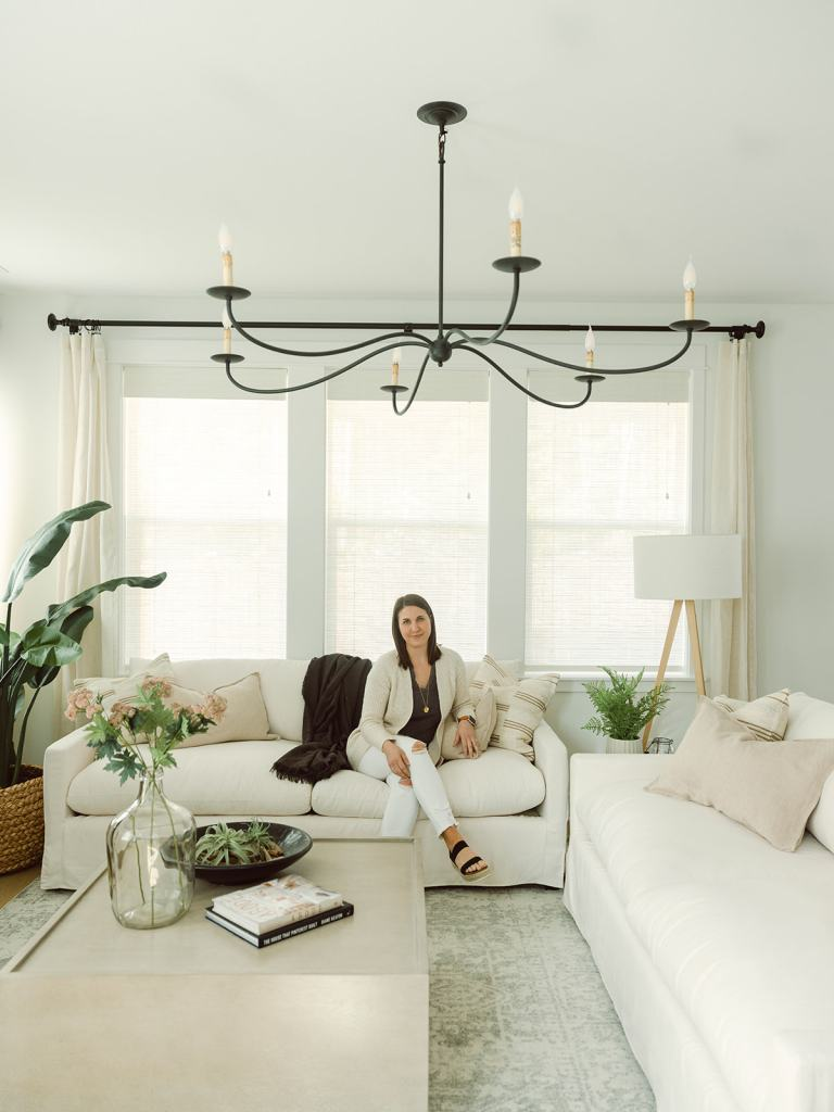 Krissy Peterson in the Trailside Coastal Modern home