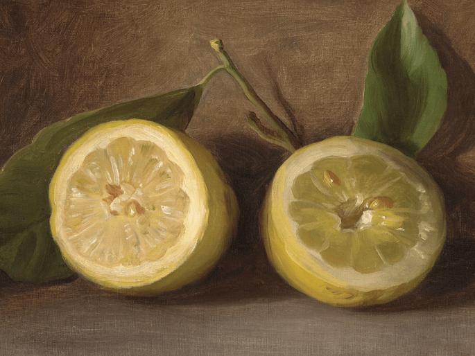 wall art roundup lemons vintage style painting