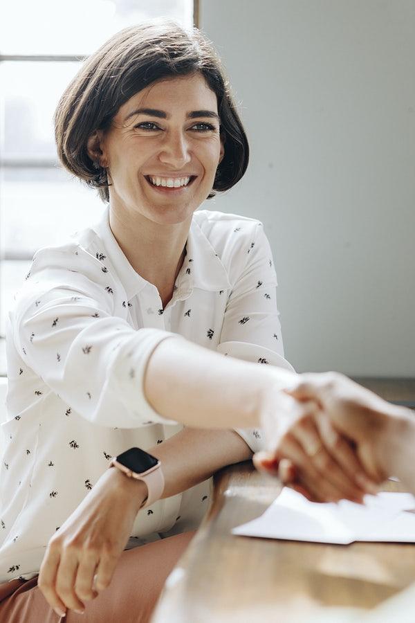 A woman negotiating