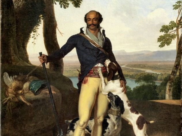 painting of thomas alexandre dumas with dogs