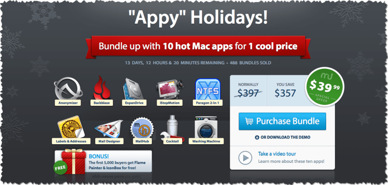 MacUpdate Appy Winter Bundle with 10 hot mac apps for 1 cool price