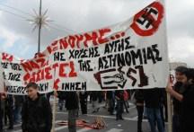 lørdag den 24. november samledes protesterne mod den fascisternes fremgang