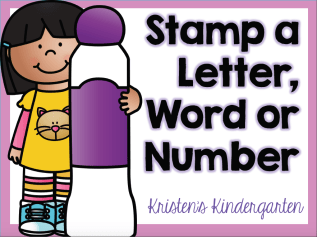 Kristen's Stamp a Letter, Word, or Number cover