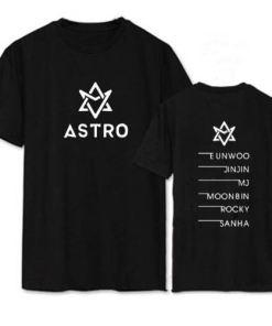 t shirt coréen astro original noir