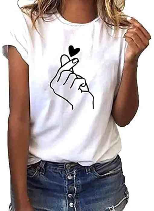 T-Shirt Style™ BTS blanc porté