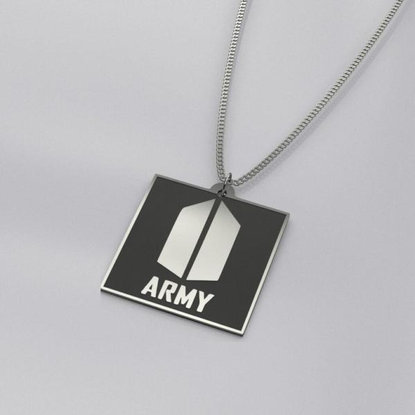 BTS ARMY Logo Engraved Trendy Necklace
