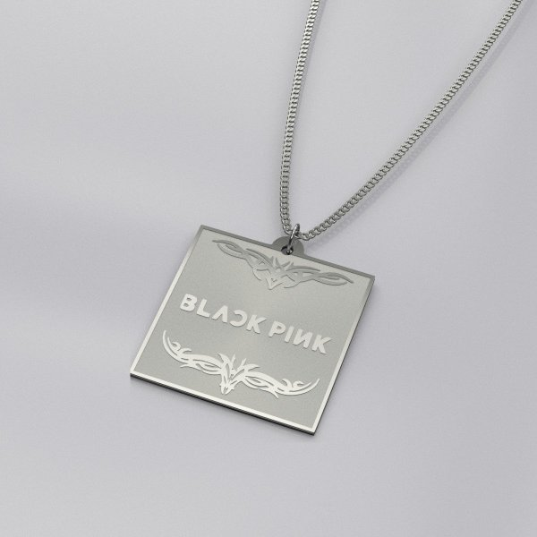 BlackPink Logo Engraved Casual Necklace