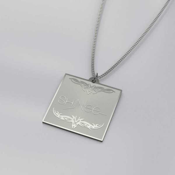 Shinee Logo Engraved Charm Necklace