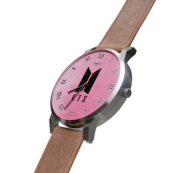 BTS Logo Pink Quartz Watch