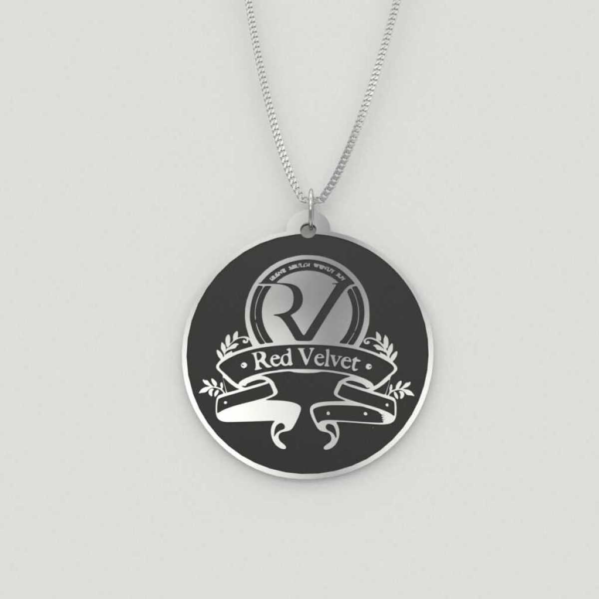Classy Red Velvet Logo Necklace