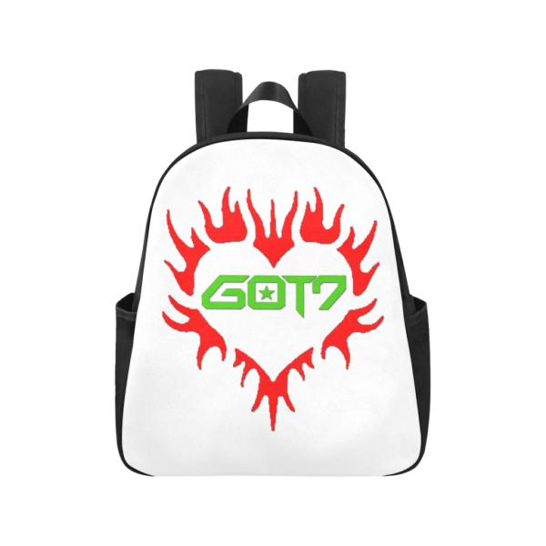 GOT7 Heart Logo Multi-Pocket Backpack