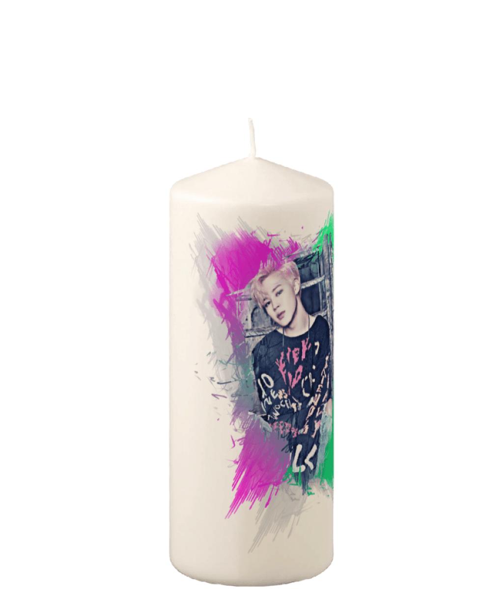 BTS Jimin Picture Pillar Candle