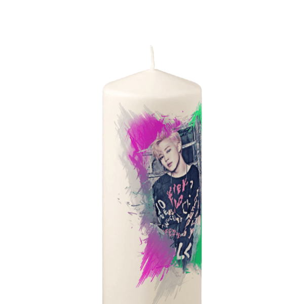 BTS Jimin Picture Pillar Candle