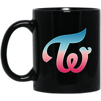 Twice Logo Black Mug
