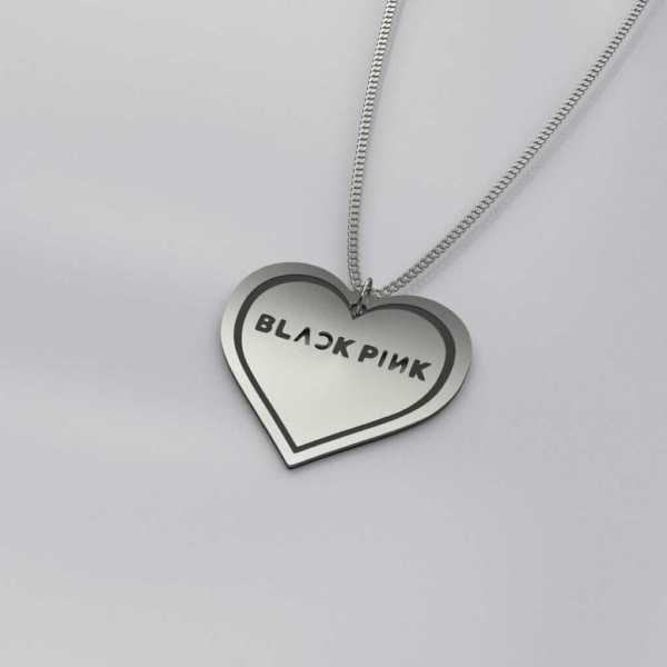 BlackPink Heart Charm Necklace