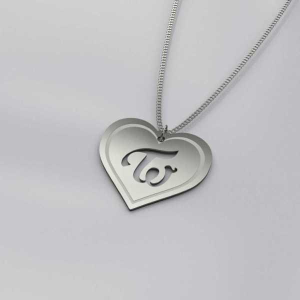 Twice Logo Heart Shape Charm Necklace
