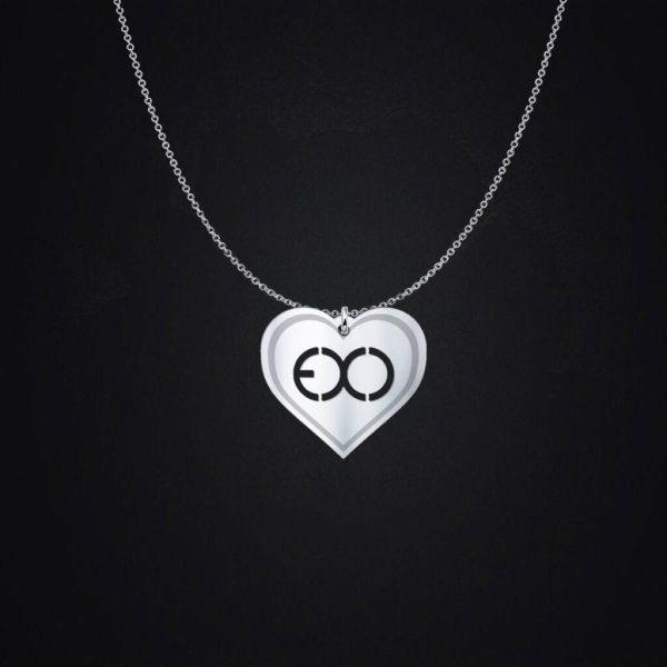 EXO Logo Heart Necklace