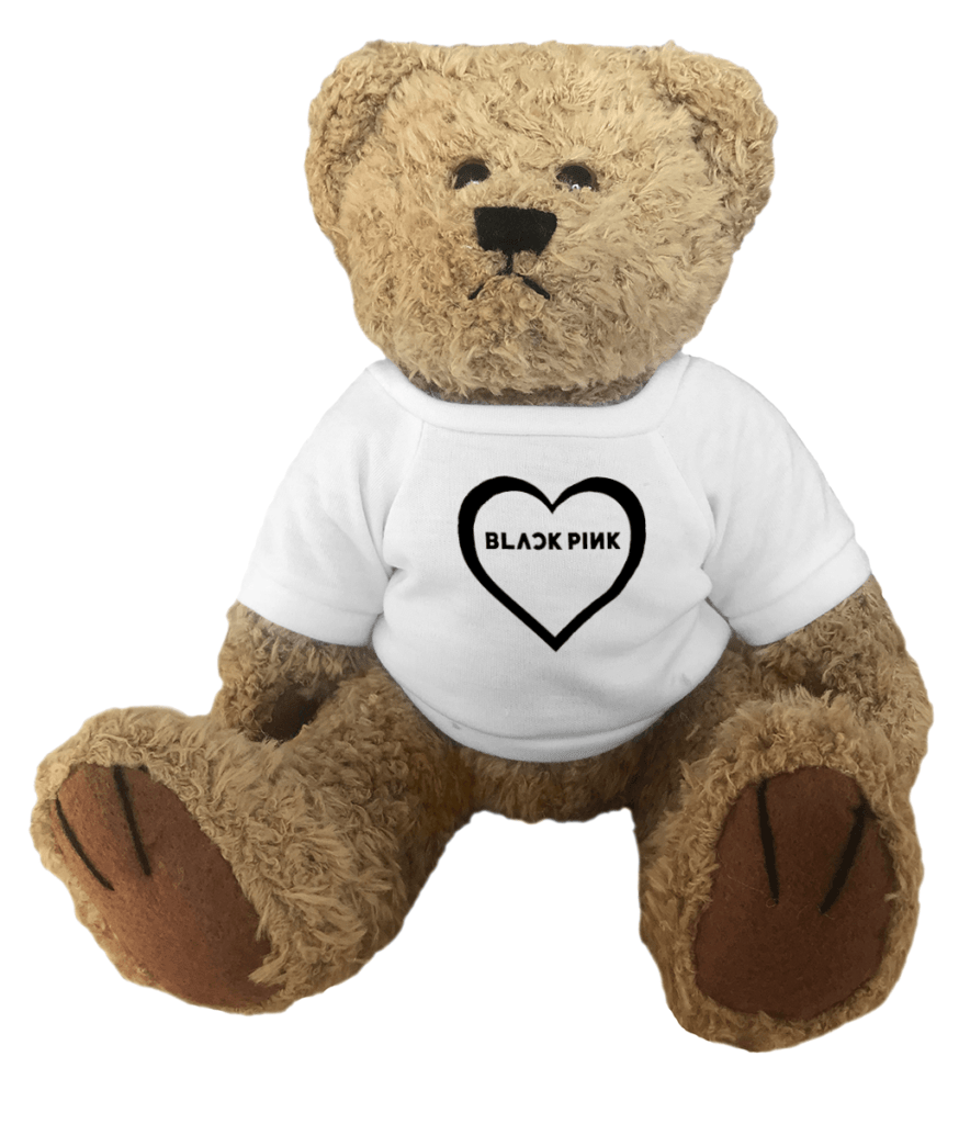 Blackpink Logo Heart Teddy Bear