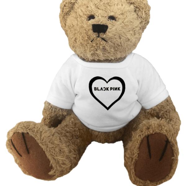 Blackpink Logo Heart Teddy Bear