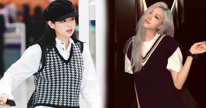 6 Ways BLACKPINK Styles Sweater Vests For The Cutest Fall Outfits