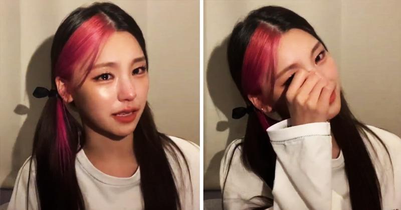 ITZY's Yeji Breaks Down In Tears During Live Broadcast