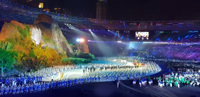 Image result for opening ceremony asian games 2018