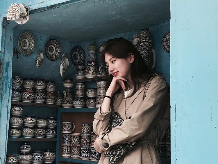 سوزي تُشارك صورًا جميلة في دولة المغرب أثناء تصويرها لمسلسلها القادم!