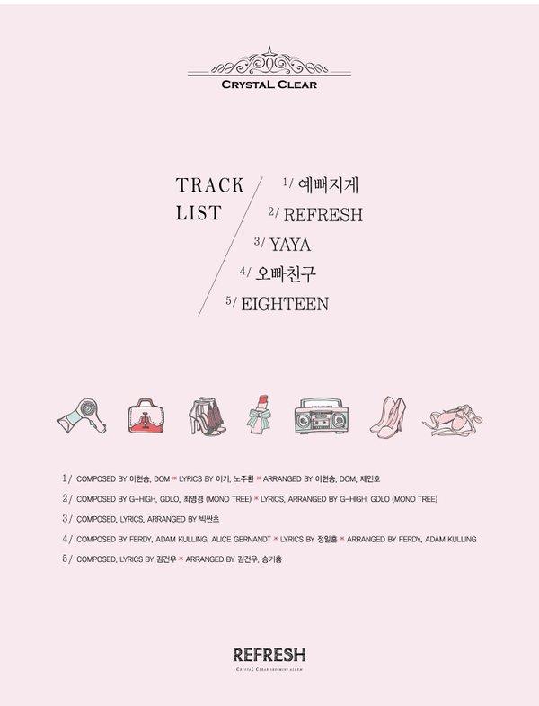 #CLC 3rd mini Album [#Refresh] (Track List)#예뻐지게 #REFRESH #YAYA #오빠친구 #EIGHTEEN