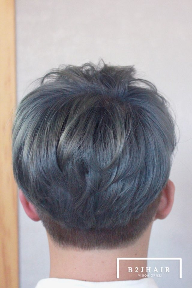 Blue grey hair color-kpophairstyleforguys-kpophair-koreanguyhair-koreanhairstyles