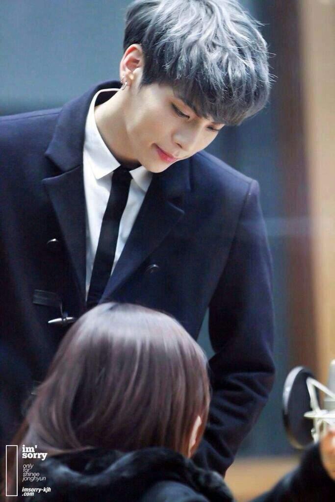Shinee Jonghyun Kpop Kpopidol Koreanidol Grey Silver Blue Hair