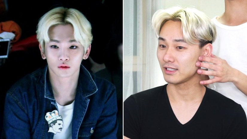 kpop boy band shinee key middle part hair tutorial
