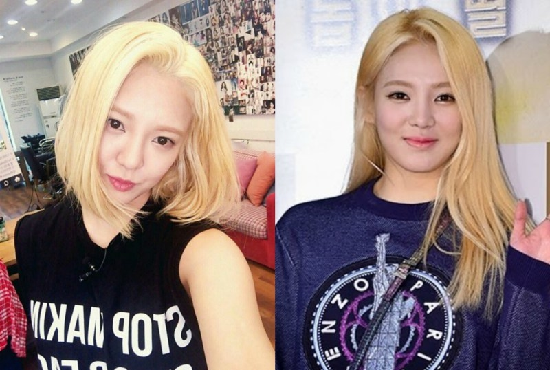kpop girl group snsd hyoyeon kpop idol haircut transformations korean short vs long hair