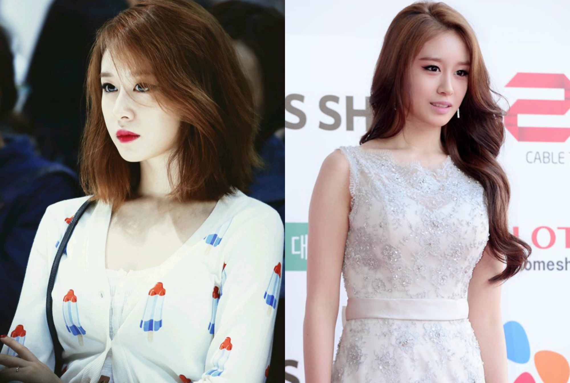 kpop girl group T-ARA Jiyeon haircut inspirations kpop idol short vs long hair