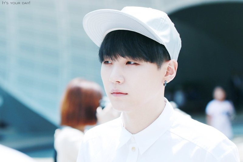 Korean boy group Bangtan Boys BTS idol Suga natural black hairstyle hair color dye hairstyles for guys kpopstuff
