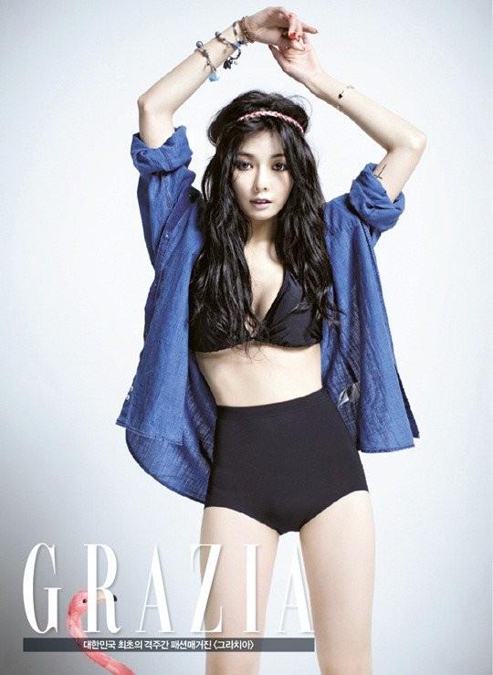 korean kpop idol 4minute hyuna red hairstyle hairstyles for girls kpopstuff